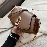 Women's Small PU Leather Crossbody Bags for Women 2021 Fashion Luxury High Quality Shoulder Handbags Chain Hand Bag