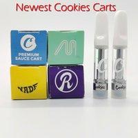 Holographic DANK VAPE Cartridges 0.8ml Side View 3D Flavours مربعات التعبئة 510 خيط 1.0 مل السيراميك لفائف Vape Carts M6t Vape Carts with logo