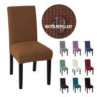 Couverture de chaise imperméable Jacquard pas cher Chaise Élastique Spandex Chaise élastique Couverture de salle à manger pour le banquet de mariage