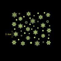 Quarto luminoso Natal Adesivos Snowflake fluorescente Xmas adesivos de parede Infantil Feliz Natal Decoração GGB2373