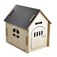Kennels kalemler orta köpek kulübesi açık su geçirmez yumuşak rahat pet ev çiğneme dayanıklı çıkarılabilir küçük yatak uyku mat