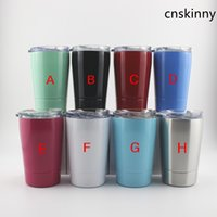 12 oz crianças copo de leite de aço inoxidável tumbler vácuo isolado caneca de café com palha e tampa G.