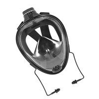 Máscara de Snorkeling de Silicone Máscara Prática Máscara Full Face Design Equipamento de Snorkel para Homens - Tamanho S / M (Preto)
