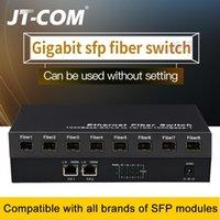 Faseroptikausrüstung Gigabit-Netzwerk-SFP-Schalter 1000MBPS-Medienwandler 8-Port und 2 RJ45 8G2E Ethernet