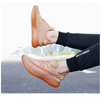 Breathable 350 V2 Yecheil Zabra Reflective Clay Cinder Men Women Sport Running Shoes yee zys-s
