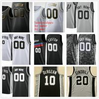 Personalizado Impreso Demar 10 Derozan Lamarcus 12 Aldridge Devin 24 Vassell Lonnie 1 Walker IV DeJounte 5 Murray Hombres Mujer Niños Camisetas de baloncesto