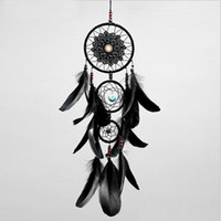 Dreamcatcher Handmade Dream Catcher Net With Feathers Black ...