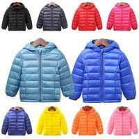 INPEPNOW Children's Down Jacket for Girl Winter Coat Winter Overall for Boy 90% Down Feather Winter Kids Parka for Girls Monkler LJ201017