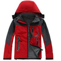 осень зима Мужская Туризм водонепроницаемый ветрозащитный север S0FTSHELL пальто Куртка Верхняя одежда куртки пальто куртки