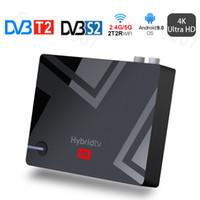 2.4G / 5G 2T2R Wi-Fi Android 9.0 TV Box DVB-S2 приемник T2 Amlogic S905X3 Quad Core Mecool K5 PVR Запись Набор верхней коробки 2 ГБ 16 ГБ Bluetooth