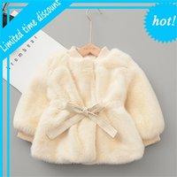 Новорожденные дети девушки зимнее извлечение горячие флюки шерстяная пряжа хорошая куртка для рождества Jas девочка одежда