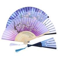 竹のレースのシルクの折りたたみハンドヘルドファンの手作りの中空彫りの中国の折りたたみファンの結婚式のパーティーダンスパーティーのポケットギフト