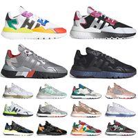 adidas nite jogger 3m reflective حذاء رياضي رجالي للركض من ICE MINT وردي ذهبي أبيض أسود أحذية تسلق الجبال موضة أحذية رياضية