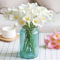 5/10 cabeças colorido touch real calla lírio artificial buquês de flores casamento decoração home diy bridal segurando flores falsificadas flores1