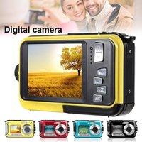Caméras numériques 48MP Caméra imperméable sous-marine Dual Screen Caméscope Video Point and Shoots gdeals1
