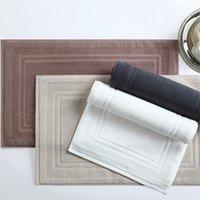 Moderno 100% algodão sólido sala de banho antiderrapante hotel hotel chuveiro esteira retângulo simples água adsorção tapete de porta / tapete toalete tapete 200925