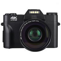 디지털 카메라 전문 4K 카메라 비디오 캠코더 UHD 용 UHD WIFI 휴대용 휴대용 핸드 헬드 16x 줌 캠 1