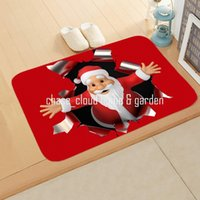 Jubilance Red Christmas Snowman Santa Claus Bedroom Corridor Carpet Non-Slip Soft Door Mat Suitable For Living Room and Kitchen