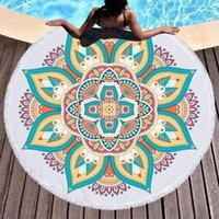 منشفة لوتس ماندالا مطبوعة جولة شاطئ ستوكات الكبار الصيف اليوغا كبيرة 150 سنتيمتر toalla حمام ملون serviette دي بلاج 1