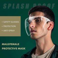 À Prova D 'Água Anti-Fog Splash Gotas Blocc Face Shield Reusável Transparente PVC Face Tampa Completa Durável Visitas Respiráveis Máscara