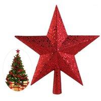 Nicexmas 9 zoll schätze gold glitzered mini star weihnachtsbaum topper1