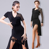 Stage Wear 2021 Fashion Latin Dance Dress per donna / Lady International Ballroom Standard Ballroom CHA Salsa Dancing Abiti Latina DL2558