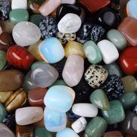 Нерегулярный смешанный ассорти натуральный повалившийся каменный кристалл кварцевые обсидианские бусины ремесел домашний фонтан декор чакра-исцеления Reiki 200930