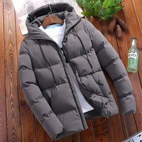 DIMUSI Winter Men's Jacket Casual Thick Warm Windbreaker Parkas Coats Fashion Outwear Slim Fit Thermal Hoodies Mens Clothing