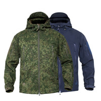 MEGE Männer Militär tarnt Fleece Tactical Jacket Men Wasserdicht Softshell Windjacke Winter-Armee mit Kapuze Mantel-Jagd-Kleidung Q1110
