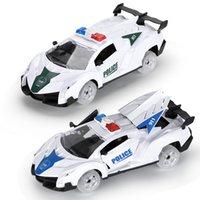 دريفيد الجمود سيارة شرطة صغيرة لعبة أدت السيارات الخفيفة هدية النقل نموذج لعبة الجمود سحب دييكاست