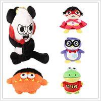 18 cm Ryan World Toys Penguin Ryans Toys Moe Plush Panda Dinosaur World Gift Ryan Fiesta Niños Revisión WXLDB