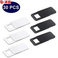 30шт веб-камеры крышки крышки магнит слайдер пластиковый ультра тонкая крышка камеры для телефона планшетный ноутбук наклейки конфиденциальности