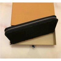M60002 Lusso Designer Organizzatore Zippy Organizer Portafoglio Women's Zipper Zipper Long Portafoglio Mono GRAM Canvers in pelle di buona qualità