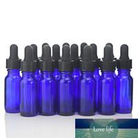 16pcs 15 ㎖ 코발트 블루 유리 에센셜 오일 아로마 테라피 빈 리필 용기 유리 스포이드와 액체 병을 전자