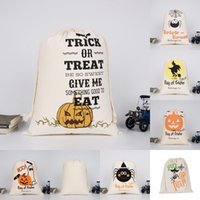 Sacs fourre-tout Halloween Sacs fourre-tout Candy Cadeau Cadeau Pumpkin Sac imprimé Sac à imprimé Festival de Noël Ghost Fête Sac à réglage 6 7HK G2