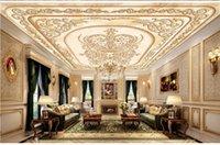 الأوروبي 3D المشهد للجدران الامبراطوري قصر الرخام السقف الحديثة خلفيات لغرفة المعيشة