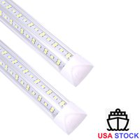 8 'T8 LED Tüpler V şekli 8ft Entegre LED Işık 8 FT Çalışma Işığı 45 W 72W 96' 'Çift Sıralı Floresan Işık Fikstür