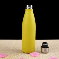Double Walled Vacuum Insulated Water Bottle Cup Cola Shape Stainless Steel 500ml Sport Vacuum Flasks Thermoses Travel Bottles seaway GWA8508