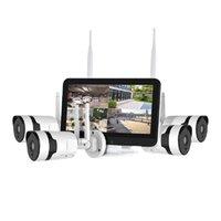 화면이있는 3MP 무선 카메라 키트 HD HD 양방향 음성 야외 카메라 보안 시스템