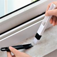 Tragbare Mehrzweckreinigungsbürste Fenster Tür Tastaturreiniger Staubkanal Lücke Sauberes Werkzeug Schwarz Blau Fensterbürste VTKY2382
