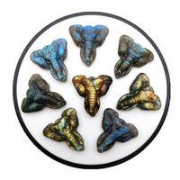 Forma Natural de cristal multicolor 38x37x12mm Labradorita Corazón colgante de piedra cabujón regalo curativo