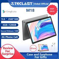 Tablet PC Teclast M18 Deca Core da 10,8 pollici IPS 2560 × 1600 Risoluzione 4 GB RAM 128GB ROM 13MP LOND 5MP Anteriore 4G Chiamata di rete