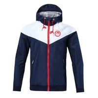 olympiakos rüzgarlık fermuar ceket Kapşonlu futbol WINDBREAKER Futbol ceket Spor tam fermuarlı ceket Erkekler Ceketler