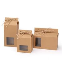 تغليف الشاي مربع الكرتون كرافت ورقة حقيبة مطوية الغذاء الجوز الشاي مربع تخزين الطعام الدائمة ورقة التعبئة حقيبة 93 G2