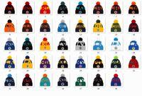 Nuevo Fútbol Gorros 2020 Línea de banda Deporte Pom Abofeteado Gorro de lana Gorro de lana Pom Pom Cap 32 Equipos Tejidos mezclar y combinar todos los extremos