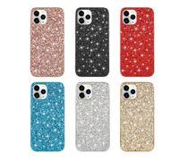 Chapado de lentejuelas para Iphone 12 X 7 8 electrochapa confeti escama lámina cromada TPU de Bling cubierta metálica de la chispa 2020 XS 11 MAX XR
