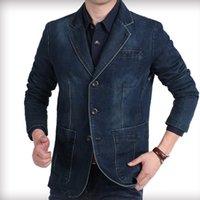 2021 NOUVEL NIAN Jeep Casual Blazer masculin sous forme de coton de la veste de denim bleu Vintage pour hommes 53cf