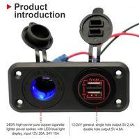 Nuovo Caricatore Dual USB di alta qualità Caricabatterie e Pannello del Pannello del Pannello MARINE MARINE 12 Volt Power Socket Car Styling Pannello di controllo Strumenti1
