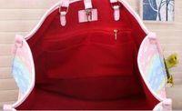 Top del diseñador del bolso de totalizadores con emparejar bolsa de hombro bolsa de asas de verano de las mujeres Escale unicornio monedero colores pastel Moda