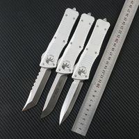 Microtech Combat Troodon Cuchillo táctico automático D2 Blade CNC T6-6061 Manija de aleación de aluminio Al aire libre Camping EDC herramienta Cuchillo de bolsillo